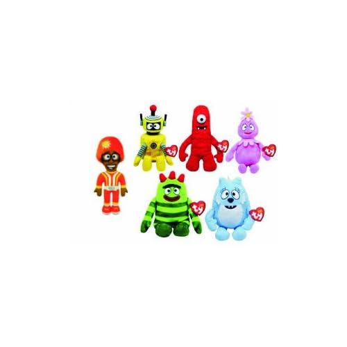 01ec271ead1 Amazon.com  Ty Beanie Baby Set of 5 Yo Gabba Gabba Plush Brobee ...