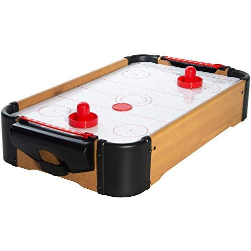 8 de Trèfle 36-2G-006 Mini Air hockey de table Avec 2 pouss