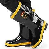 Botas de Seguridad, Botas de Goma de Rescate Contra Incendios Zapatos de Seguridad de Goma Antideslizantes de Resistencia A Altas Temperaturas Para Bomberos(42)
