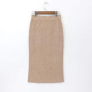 999e9eaa3be YKDDCC Jupe Courte Haut de Gamme pour Femme Jupes d hiver Automne Tricoté  Bouton Slim