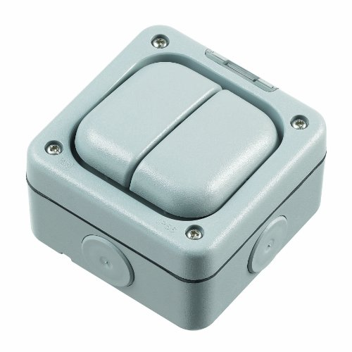 MK Masterseal Plus K56402RY - Interruttore doppio unipolare, semplice, 10 amp