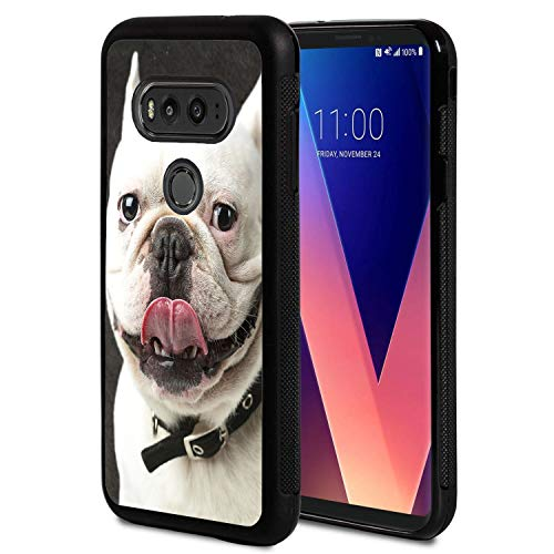 Compatible with LG G6 Case/LG G6 Plus Case,Funny French Bulldog Design Slim Anti-Scratch Shockproof TPU Back Protective Cover Case for LG G6 Case