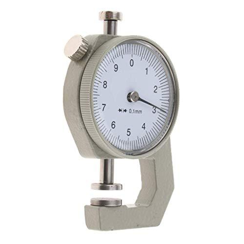 Medidor de espesor 0-10 mm indicador de papel de cuero micrómetro herramientas de medida 1pcs