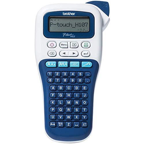 Brother PT-H107B tragbares Etikettiergerät für Zuhause und Büro P-Touch 107B Blu e Bianco
