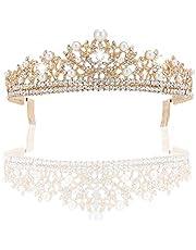 JUZHEN Prinzessin Crown Wasser Drill Dekoration Geburtstag Krone Kleid Kopfschmuck Party, Geburtstag, Jubiläum, Hochzeit Headwear, Geschenk.