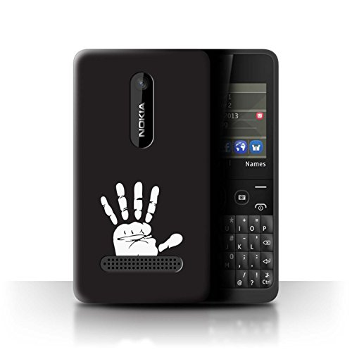 Hülle Für Nokia Asha 210 LOTR Fantasie Inspiriert Weiße Hand Isengard Design Transparent Ultra Dünn Klar Hart Schutz Handyhülle Case