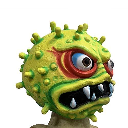 thematys Bakterium Maske in 7 verschiedenen Designs - perfekt für Fasching, Karneval & Halloween - Kostüm für Erwachsene - Latex, Unisex Einheitsgröße (Style 2)