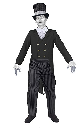0207VP9WUMO ILOVEFANCYDRESS Costume d'halloween de majordome Zombie pour Adulte Homme