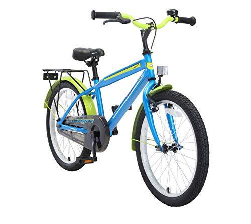 BIKESTAR Kinderfahrrad 20 Zoll für Jungen ab 6-7 Jahre | 20er Kinderrad Modern | Fahrrad für Kinder Blau & Grün | Risikofrei Testen