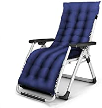 High-quality recliner Folding Chair, Garden Recliner Armchair With Reclining Balcony, Office Dining Table, Outdoor Travel Beach Camping Bed, Adjustable Headrest, Detachable Cotton Ball (Color : E)