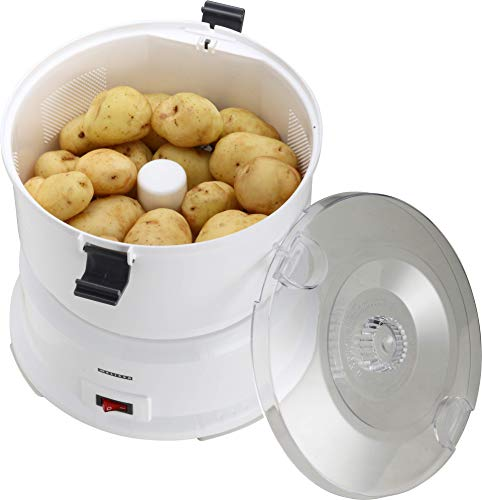 Melissa 16220006, Kartoffelschälmaschine, 1kg, elektrischer Kartoffelschäler, Kartoffel, Schälmaschine, Kunststoff, weiß