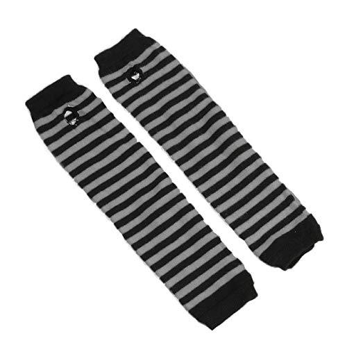 Guantes Mitones de Juego de rol Hombres y Mujeres Moda protección Solar puños Calientes-Black and Gray-One Size