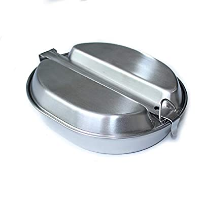 ANQIAO Reproduction WW2 US Military Mess Kits G.I. Lunch Box Stainless Material Collection Outdoor Sports