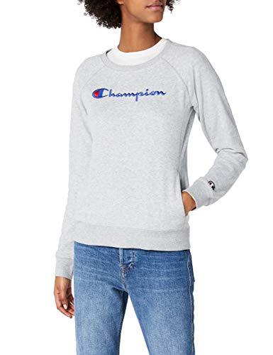 Champion Damen Classic Logo Sweatshirt, Grau, S