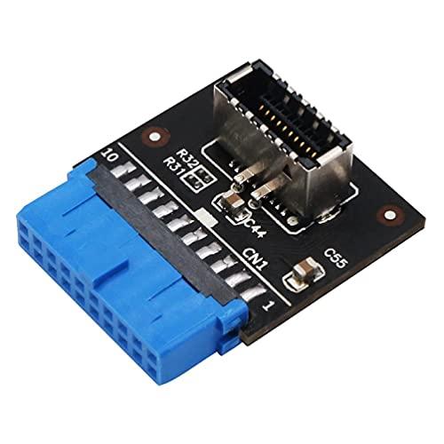 XIANZI Adaptador de extensión USB 3.1 tipo C hembra USB 3.0 de 19 pines a tipo E de 20 pines para placa base de PC, adaptador de cable de extensión, lector de tarjetas