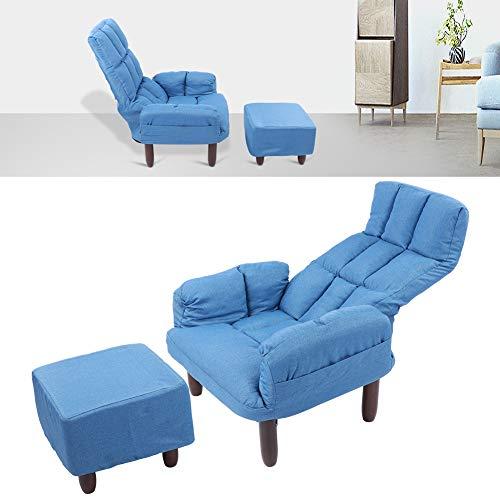 Cerlingwee Sillas de sofá, sillón de cojín Suave con reposapiés para Dormitorio para Sala de Estar para salón