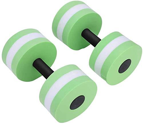 EIIDJFF Juego de mancuernas para mujer, de espuma, de gran resistencia, para piscina, entrenamiento de culturismo, fitness, yoga (color: verde)