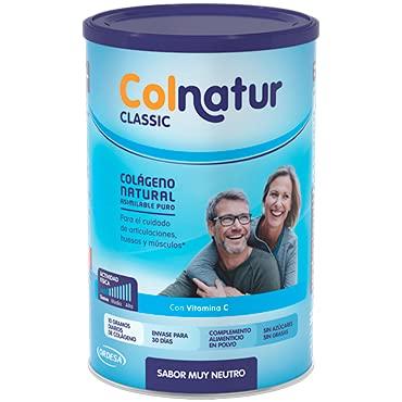 Colnatur Classic – Colágeno Natural para Músculos y Articulaciones, Sabor Neutro, 306 gr