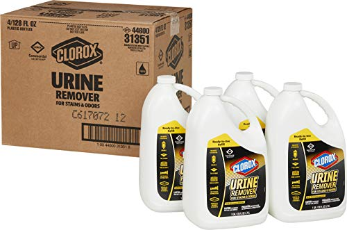 Clorox Commercial Solutions Urine Remover for Stains and Odors - 128 Ounce Refill Bottle, 4 Bottles/Case (31351)