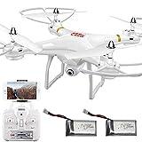 YLJYJ Avión Drone con cámara para Adultos FPV RC Quadcopter Avión WiFi Video en Vivo Altitud Hover 4D VR 2.4GHz 4 Axis Gyro Headle (Coche Inteligente)