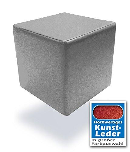Unbekannt Spielpolster Schaumstoff Würfel in Grau mit hochwertigem Kunstlederbezug und Qualitätsschaumstoff 40 x 40 x 40 cm. Kinder Spielspaß, Sitzhocker, Sitzwürfel, Schaumstoffwürfel. (Grau)