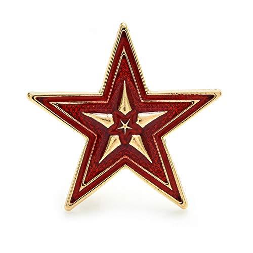 CLEARNICE Broche De Estrella De Esmalte para Hombres Y Mujeres, Regalo De Joyería, Nueva Insignia De Metal