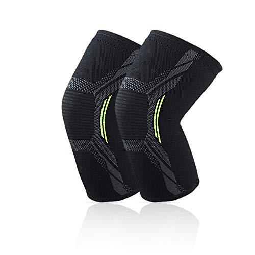 Kniestütze 2er Pack Kniebandage für Männer Frauen,Elastic Breathable Knee Pads, Non-Slip Compression Knee Orthoses Perfect For Meniscus Tear, Arthritis, Tendonitis, Running, Squats, Sports
