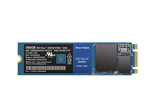 Western Digital 500GB WD Blue SN500 NVMe Internal SSD - Gen3 PCIe, M.2 2280, 3D NAND, Up to 1700 MB/s - WDS500G1B0C