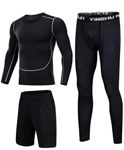 Traje Deportivo for Hombres, Ropa Casual de Entrenamiento for Hombres, Trajes de Pantalones Deportivos de Secado rápido, Trajes de Entrenamiento de fútbol Baloncesto (Color : H, Size : M)