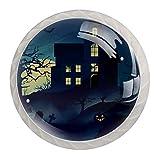 Gloomy House in the Forest - Tirador redondo con tornillos, para armario de cocina, armario, aparador, 4 unidades
