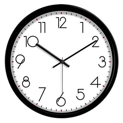 Everyday home Moderne Européenne Horloge Murale Numérique Horloge À Quartz Salon Moderne Créative Horloge À Quartz Silencieux (Couleur : NOIR, taille : 12 pouces)