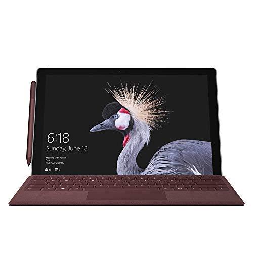 Microsoft Surface Pro Signature Type Cover (Kompatibel mit Surface Pro 6/Pro/Pro 4/Pro 3, LED-Hintergrundbeleuchtung, Qwertz Tastatur) bordeaux rot (Generalüberholt)