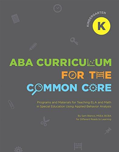 Aba Curriculum For The Common Core Kindergarten