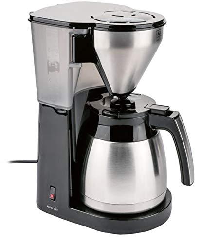 Thermo Kaffeemaschine Filterkaffemaschine mit Edelstahl Isolierkanne Abnehmbarer Schwenkfilter mit Tropf-Stopp, Rastung, spülmaschinengeeignet