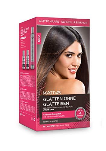 Kativa - Alisador de pelo Xtreme Care, color rojo