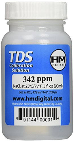 HM Digital C342 TDS and EC Calibration Solution, 342 ppm (NaCl), 90 ml Volume