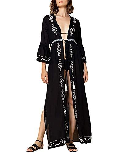 Orshoy Cardigan a Kimono da Donna Elegante Giacca Estiva Leggera Copricostume Casual da Spiaggia per Le Vacanze Coprispalle Arioso a Cascata Estivo Copricostume Spiaggia Blusa Top