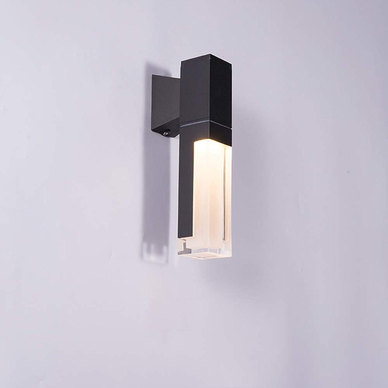 LED Wandleuchte IP54 Aluminium Wandlampe Untergraue Farbe Wandlicht Acryl Wandbeleuchtung für Korridor Terrasse Clubhaus Villa Flur Garten Freizeitplatz Auenwand