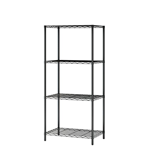 "HOMEFORT 4-Tier Wire Shelving 4 Shelves Unit Metal Storage Rack Durable Organizer Perfect for Pantry Closet Kitchen Laundry Organization in Black,21""Wx14""Dx46.5""H"