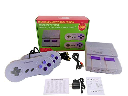 (2020 New) Classic Retro Game Consoles 660 AV Out Video Game Console, Mini TV Game Console Built-in...