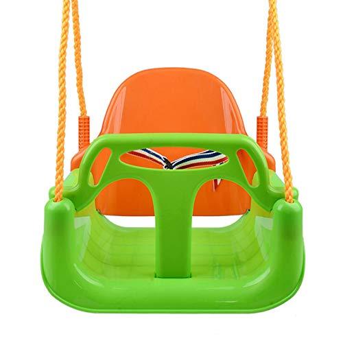 Asiento de columpio para bebé al aire libre, 3 en 1 elástico para niños desmontable Swing color ambiental tablero U-swing mecedora columpio niños niños niños niños colgante asiento