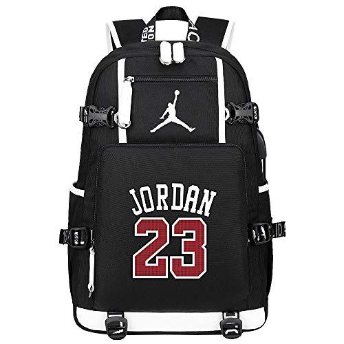 Liuying Michael Jordan 23 Zaino Borsa per Bambini Ragazzi Ragazze Zaino Borsa per Laptop per Ragazzi Borsa da College Borsa da Pranzo Zaino da Viaggio per Escursionismo Casual,2-47cmX15cmX30cm