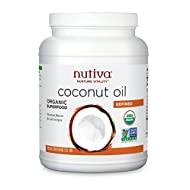 Nutiva Organic Steam-Refined Coconut Oil, 78 Fluid Ounce | USDA Organic, Non-GMO | Vegan, Keto, Paleo | Neutral Flavor and Aroma for Cooking & Natural Moisturizer for Skin and Hair