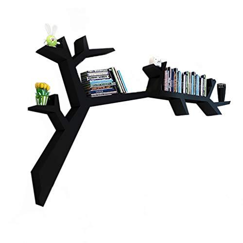 Cdbl Estantería de pared con forma de árbol, estante de pared, estante de exhibición de celosía, carga de 25 kg, 120 x 90 x 15 cm, apto para sala de estar, sofá, pared, dormitorio, comedor, oficina