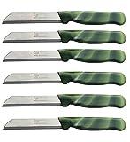 Solingen, coltello da frutta/verdura/coltello da cucina, multiuso, affilato, in acciaio a nastro/seghettato, modello 2, 12 pezzi