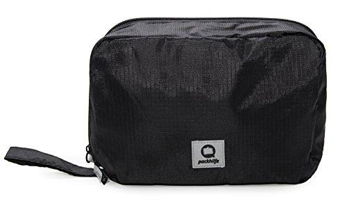 HAUPTSTADTKOFFER – Packhilfe - Reise Kosmetiktasche, Kosmetik-Organizer, Reisetasche für Reisekosmetik, Reisekosmetiktasche zum Aufhängen, Packwürfel, 22 cm
