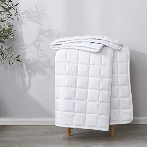 """Best Season Twin Size Microfiber Mattress Pad ProtectorTopper,Breathable Cover with Elastic Straps (8""""-21"""" Fitted Deep Pocket) White Color"""