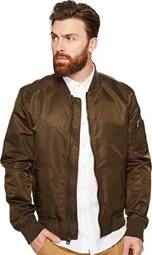 Levi's Men's Flight Satin Unfilled Ma-1 Bomber, Olive, Medium