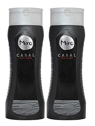 MIRO CABAL pour homme - Bath & Shower Gel 2 x 400 ml (800 ml)