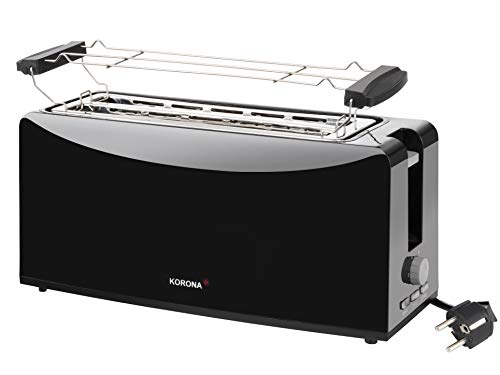 Korona-Langschlitztoaster-4-Scheiben-Toaster-mit-Broetchenaufsatz-sowie-Einer-Auftau-und-Aufwaermstufe